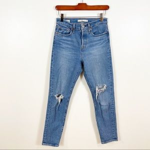 LEVIS Wedgie Straight Distressed Hi Rise Jean 25